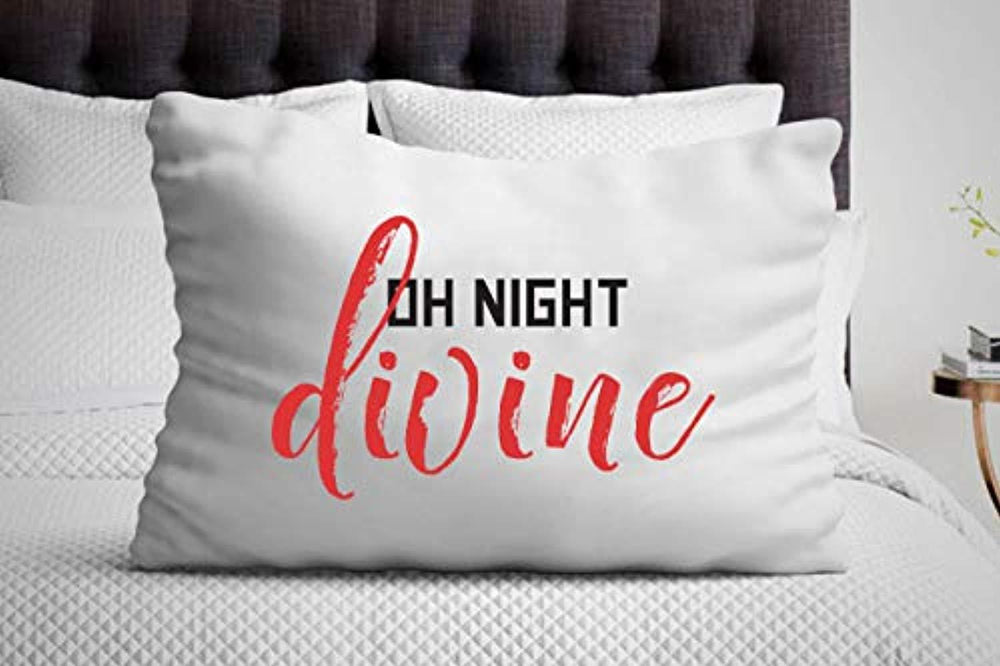 Oh Night Divine Pillow Cover |Christmas gifts | gifts for Friends and Loved Ones