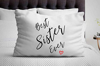 Best Sister Ever Pillow Cover| Gift  for Sister | Christmas Ideas for Girl Friends