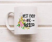 Ideas from Boston- BEST EVER BIG SISTER mug, Sister coffee mug, Gift For friends sister, FunnyQuotes, Mugs for elderone, Ceramic coffee mugs