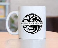 Game of Thrones Lovers Gifts | FATHER OF HOUSE  Coffee Mugs | Ceramic Coffee Mugs