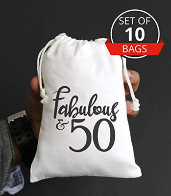 Fabulous Fifty 50th Birthday Party Ideas Favor Bags 50th Birthday Goody Bag 50th Anniversary