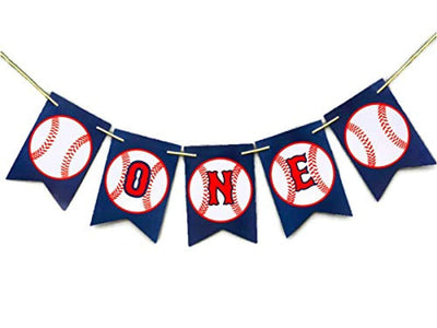 Baseball One High Chair Banner Baseball One Banner 1st Birthday Sports Banner Baseball Theme Party Baseball Baby shower Banner One High chair Birthday Party Decors