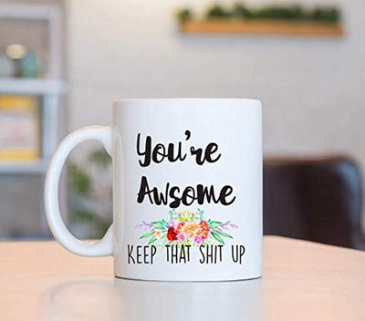 YOU'RE AWESOME  Coffee Mugs | Motivational Coffee Mugs | Gift For Friends | Engraved Ceramic Coffee Mugs