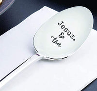 Christians Engraved Spoon Gift For Tea Lover | Religious Gift For Mom/Dad