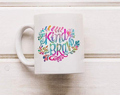 Ideas from Boston- BE KIND BE BRAVE mug, Brave kindness coffee mug, Gift For friends sister brother, Motivational Quotes, Mugs for motivation, Ceramic coffee mugs, kind people are my kind of people,