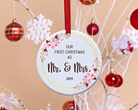 Our first Christmas as Mr and Mrs Wedding Christmas ornament for Couples