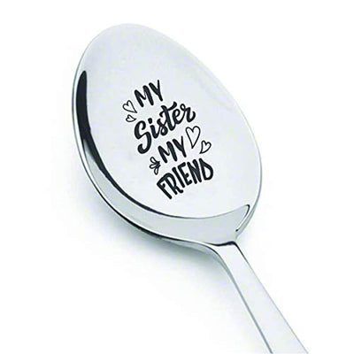 Sisters gifts | Christmas gift from sister/brother | Sister in law gifts | Long distance sister gift | Engraved spoon gift for birthday/Easter | Siblings Day Best friends big Little sisters