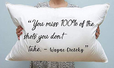 You Miss 100% of The Shots You Don't Pillow Cover| Decorative Pillow Cases |Anniversary gifts