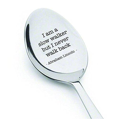 Inspirational quotes - Abraham Lincoln spoon - US President day gifts - Lincoln Memorabilia - Gettysburg Address - teacher gifts - gifts for mom - dad gifts - best friends gifts - quote - BOSTON CREATIVE COMPANY