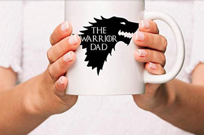 Ideas from Boston- Game of thrones mugs, Ceramic coffee Mugs THE WARRIOR DAD, GOT Gifts, Game of throne party decoration, Best Coffee Mugs.