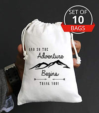 And So The Adventure Begins | Favor bags | Wedding & Baby Shower Party Favor Bag