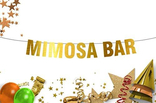 Mimosa Bar Party  bachelorette bridal shower Gold banner