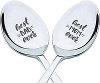 Best Dad Ever | Best Mom Ever Spoon Gift for Father Mother