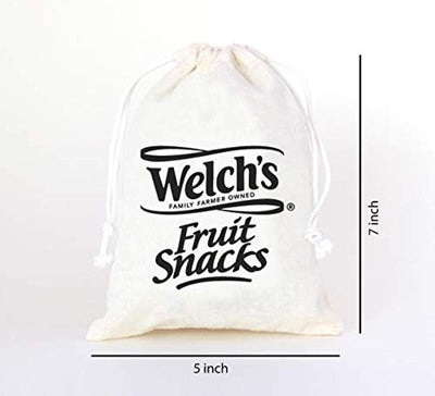 Custom Muslin Bags |Welch fruit snacks | Personalized Wedding Favor Bags - Set of 40 bags