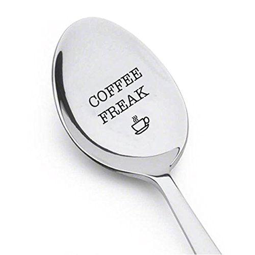 Coffee Freak spoon - Coffee Lover Gift - gifts for mom - dad gifts - Coffee station decor - BOSTON CREATIVE COMPANY
