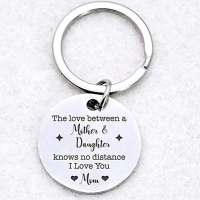 Infinity Love Heart The Love Between a Mother and Daughter is Forever Stainless Steel Keychain-i Love You mom Charm Keyring Gifts for Mothers Day or Birthday