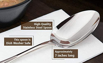 Dad Hero With Heart Engraved Stainless Steel Spoon Gifts For Dad On Father's Day Birthday Anniversary Special Occasion