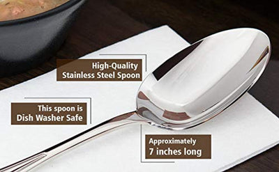 Mom's Coffee Table Dessert Spoon | Engraved Unique Gift For Mom | Mother's Day Gifts | Engraved Stainless Steel Spoons