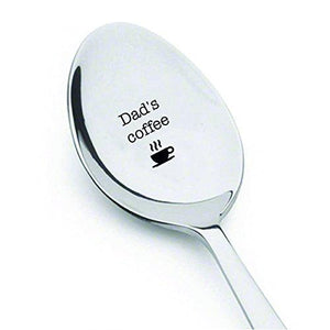 Dad's Coffee spoon - Unique Birthday Gift for Dad - Engraved Spoon - BOSTON CREATIVE COMPANY
