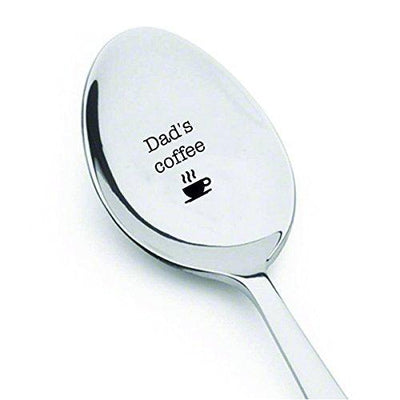 Dads Coffee spoon - Unique Birthday Gift for Dad - Engraved Spoon - BOSTON CREATIVE COMPANY