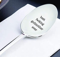 Best Fucking Godmother Ever Engraved Spoon Gift