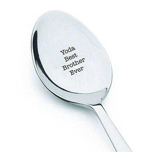 Yoda best brother ever - cute spoon- engraved spoon- coffer lover