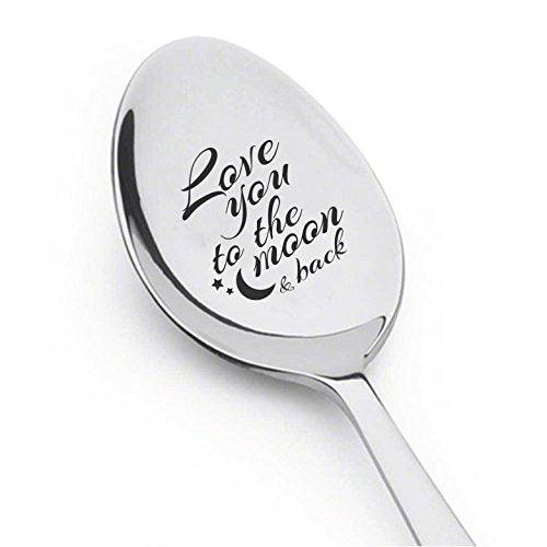 I Love to the Moon and Back Spoon- Best Selling Item - Gift for Him - Gift for Her - BOSTON CREATIVE COMPANY