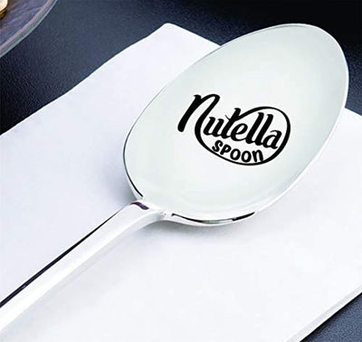 Nutella Lover- Nutella Spoon | Funny Christmas gift for Dad from daughter son | Birthday present for husband/wife | Personalized engraved spoon gift for men women | Best gifts for a boyfriend