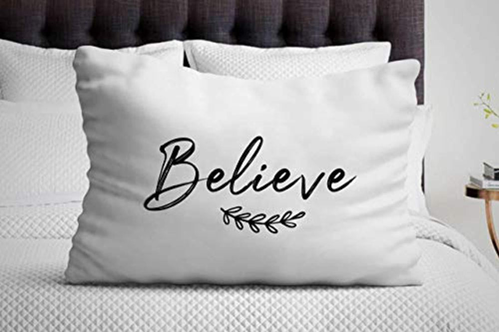 Inspirational Gift for Women | Believe Pillow Cover | Christmas Ideas for Friends