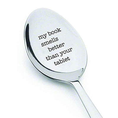 My Book Smells Funny Tea Party Spoon Gifts for Tea Lovers BFF Girlfriend