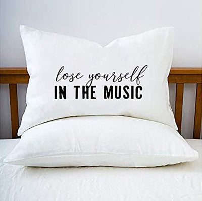 Lose Yourself In The Music Pillow Cover| Gift for Music Lover| Unique Christmas Gift