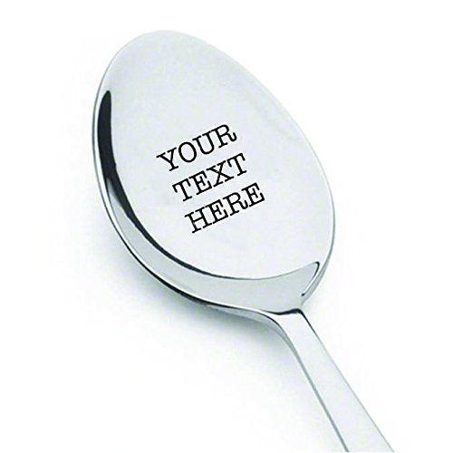 Customized spoon – Your Text Here - High-Quality stainless steel spoon - BOSTON CREATIVE COMPANY