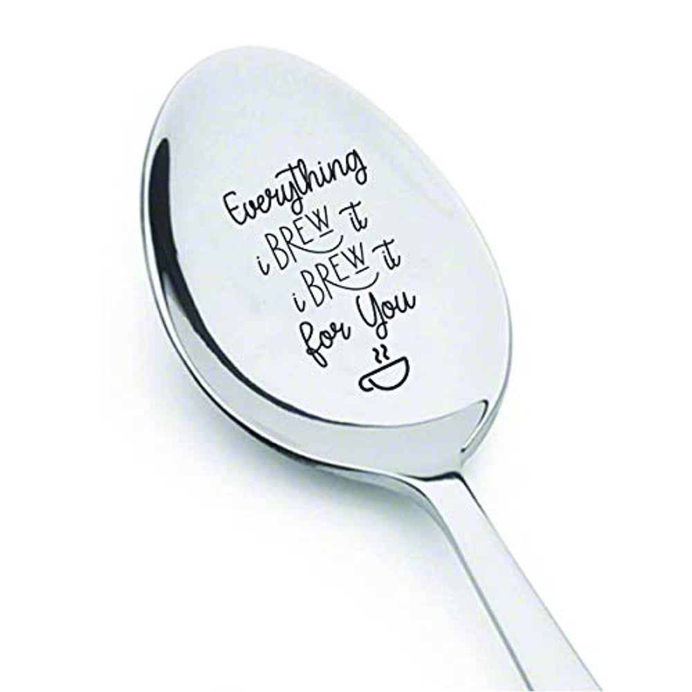 First year dating anniversary gifts for him|Valentines day gift from girlfriend| 1st year anniversary gift for him | Wedding/Engagement husband gift|Everything i brew i brew it for you engraved spoon