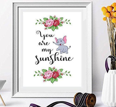 You Are My Sun Shine-Wall Decor-Quotes-Wall Art Prints-Home Decor-Wall Decorations-Room Decor-Wall Graphics-Living Room Decor-Floral prints-Water Color Prints-WallArt Water Color Prints-Bed Room Decor - BOSTON CREATIVE COMPANY