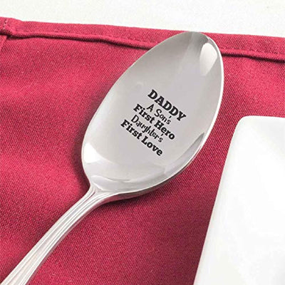 Best Gifts For Dads Birthday Daddy A Sons First Hero A Daughters First Love Spoon Engraved Spoon Gift For Fathers Day Christmas Gifts From Daughter Son