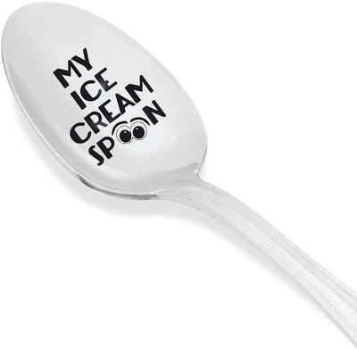Anniversary Gift Engraved Spoon For Ice cream Lovers