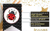 ITS A GIRL Miraculous Ladybug Party Supplies Welcome Baby Shower Happy Little Banner-Highchair Banner 1st Birthday Girl Red And Black Decoration-Girl 12 Month Banner First Birthday Hanging Flags