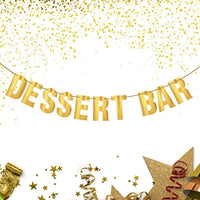 Dessert Bar Banner Bridal Shower Birthday Engagement Graduation Sweet Table Candy Buffet Banner-Treat Bar Decoration For Dessert Table Anniversary Wedding Reception Decorations