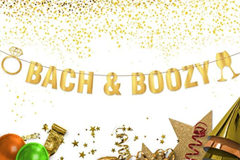 Party Tarty-Bach & Boozy Banner Sign Garland Pre-strung For Bachelorette Party Champagne Bubbly Wine Bar Men Or Women-Women Bachelorette Party Decorations Naughty Hen Party Supplies