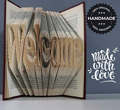 Welcome Folded Book Art Gifts for Engagement Wedding Birthday Anniversary Christmas Housewarming | Loving Gifts for Him and Her