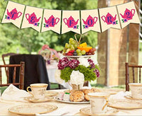 Ideas from Boston-Tea party Banner decoration, Tea for 2 banner, Tea party supplies, Engagement Decor Bridal Shower, High Tea Party Banner, couple banner decoration, Bachelorette Party Decoration, Tea Party Decorations ,Tea Time Banner