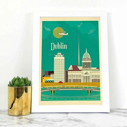 Dublin Ireland Art Print - Dublin Skyline Print - Black pool - Dublin Art - Home decor - Print Dublin Poster - Dublin Vertical Prints - Irish Print - Beach decor - ST Patricks day - dark tidal pool - BOSTON CREATIVE COMPANY
