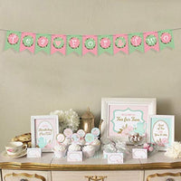 Tea For Two Banner Home Decor Tea Party Decorations -floral Letter Sign Kids Second Princess Birthday Party Decor -Alice Tea Party Decorations -Cardstock Backdrop Girl Kid Evening Teapot Decor