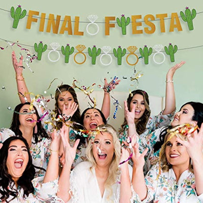 Final Fiesta Party Supplies Banner-Funny Bachelorette Wedding Decoration- Bachelorette Party Supplies Naughty Dirty, Bridal Shower Banner Hen Party Supplies for Mexico Bachelorette Theme Cactus Decor