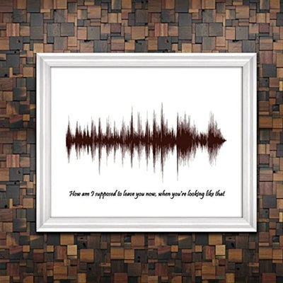 Sound Wave Print - Voice Art print - From unique voice- Sound or Song