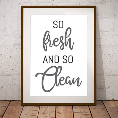 So Fresh and So Clean Poster | Laundry Room Decor | Funny Toilet Art | Home Decor