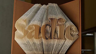 Folded Book Art-Word Pattern-6 Numbers-Customized Name-Unique Gifts for Loved Ones