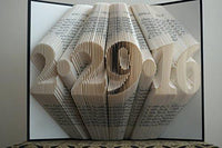 Folded Book Art Paper Wedding Anniversary unique Gift