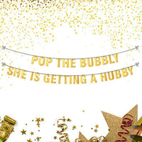 Pop the bubbly banner | Hen Party Decorations Banner Sign for Bridal Shower | Bachelorette Party Kits Decorations| Bridal Shower Engagement party kits for women | Adult party supplies