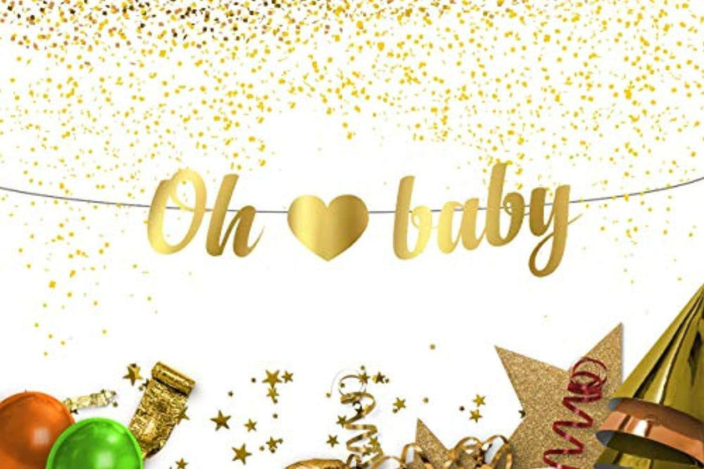 Oh Baby Banner With Heart For Baby Shower Birthday Party Decorations F Boston Creative Company